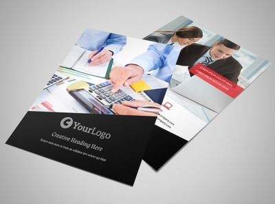 finance and business print brochure template 3