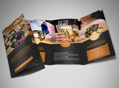 wine brochure template - food beverage menu printing menu brochure printing